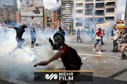 درگیری شدید بین معترضین ضد دولتی و نیروهای امنیتی