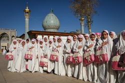 جشن عبادت دانش آموزان در حرم مطهر شاهچراغ(ع)