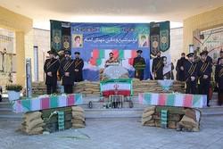 مراسم تشییع و خاکسپاری دو شهید گمنام دفاع مقدس در فردو برگزار شد