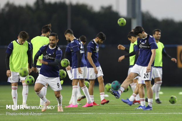 Team Melli's training session in Abu Dhabi