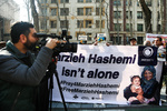 Rally in front of Tehran UN office to support detained journalist
