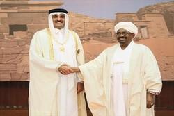 پیام مکتوب امیر قطر خطاب به رئیس جمهور سودان
