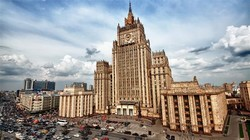 the file photo shows a view of the Russian Foreign Ministry building in Moscow.