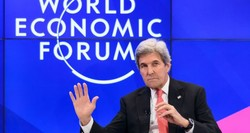 John Kerry, in Davos