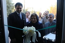Islamabad's Ambassador to Tehran Riffat Masood cuts ribbon on a cultural center in Mashhad, northeast Iran.
