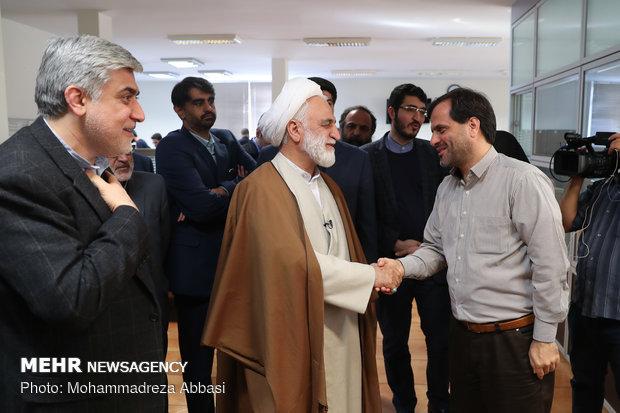 المتحدث باسم السلطة القضائية يقوم بجولة في وكالة مهر للأنباء/صور