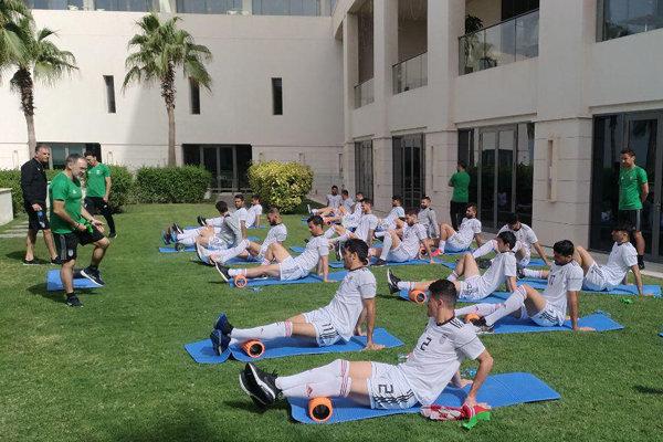 تمرین سبک تیم ملی فوتبال ایران در هتل برگزار شد