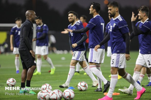 Team Melli's last training session before taking on China