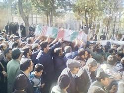 پیکر شهید «علیرضا زیبرم» در جنوب تهران تشییع شد