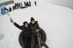 İran'da kayak keyfi