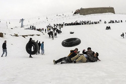 Snow tubing in Abali ski resort