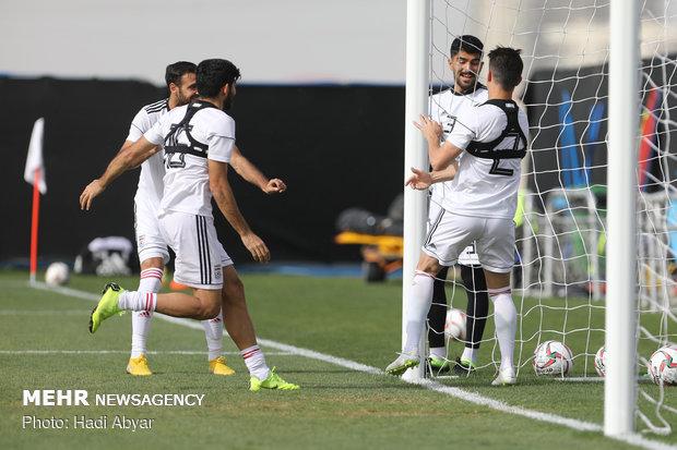 Team Melli's training session in Abu Dhabi