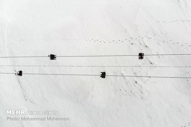 تفریح زمستانی در پیست اسکی آبعلی