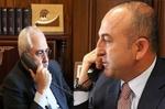 ظريف يبحث مع تشاويش اوغلو الأوضاع في سوريا