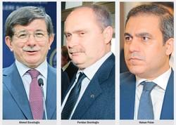 then-Foreign Minister Ahmet Davutoglu, then-Foreign Ministry Undersecretary Feridun Sinirlioglu, MIT Undersecretary Hakan Fidan