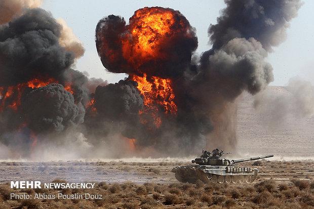 """مناورات """"اقتدار 97"""" للجيش الإيراني تنتهي بتحقيق جميع اهدافها المرسومة"""
