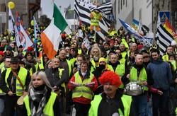 فرانس میں اُنیسویں ہفتے بھی پیلی جیکٹ والوں کا احتجاج جاری