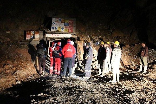 Amasya'da maden ocağında göçük