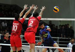 دیدار تیم های والیبال فولاد سیرجان ایرانیان و پیام مشهد