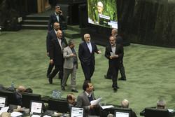 Iran FM Zarif in Parliament