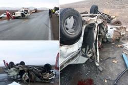 برخورد ۳ خودرو با یکدیگر در قم یک کشته برجا گذاشت
