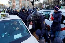 پلیس اسپانیا با معترضان در مادرید درگیر شد