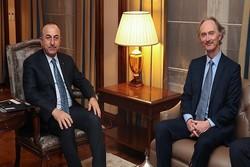 دیدار چاوش اوغلو با نماینده ویژه سازمان ملل در امور سوریه
