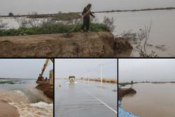 شکسته شدن برخی سیل بندهای خوزستان/ تخلیه تعدادی از روستاها/ سیل اصلی در راه است