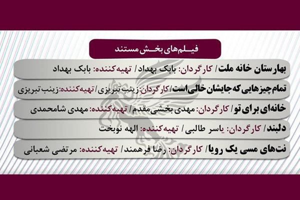 مستندسازان حاضر در «فجر ۳۷» نماینده مستندسازان ایراناند
