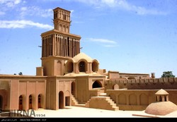 A view of a badger (wind catcher) in the city of Abarkuh in Yazd