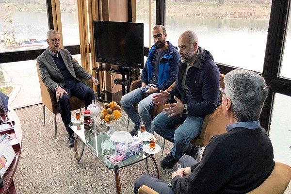 بازدید رئیس فدراسیون قایقرانی گرجستان از دریاچه آزادی تهران