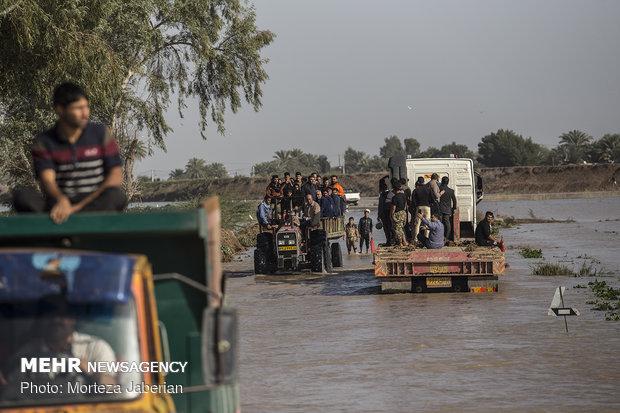 لزوم جابجایی اهالی چند روستای دشت آزادگان در صورت بالا آمدن آب