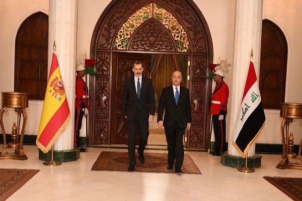 İspanya Kralı, Irak Cumhurbaşkanı ile Bağdat'ta görüştü