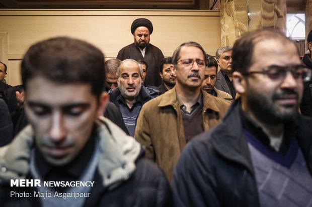 مرلسم تشییع مرحوم محمدنبی حبیبی دبیرکل حزب موتلفه