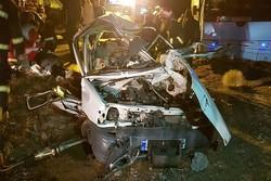 تصادف خودرو تریلر سوخت کش با خودرو تویوتا ٢٠٠٠/ ۴ نفر فوت کردند