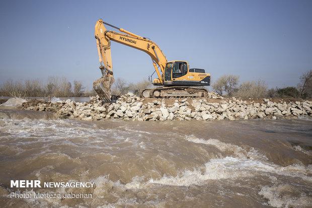 جهود مكثفة لإعمار حزام الفيضانات بمحافظة خوزستان