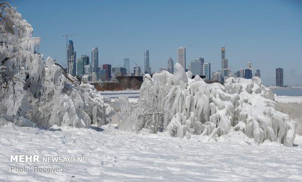 سرمای شدید در آمریکا