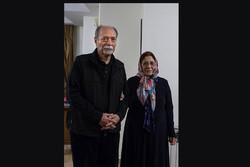 علی نصیریان به سوگ همسرش نشست