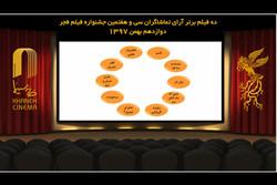 اعلام ۱۰ فیلم برتر آرای مردمی سی و هفتمین جشنواره فیلم فجر