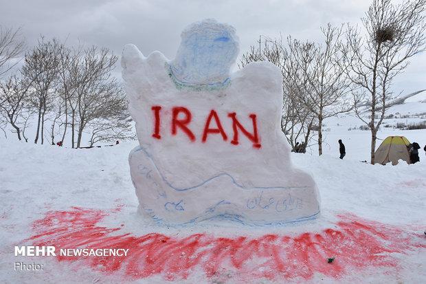 İran'da kardan adam etkinliği