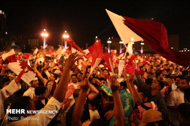 جشن قهرمانی قطر در جام ملت های آسیا
