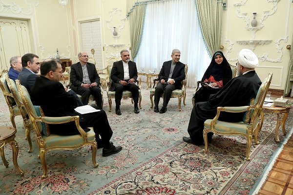 New Iranian ambassadors to 4 countries meet with pres. Rouhani