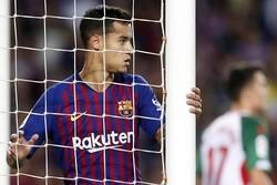 بارسلونا، استاد زدن توپ به تیر دروازه!