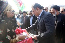 افتتاح پروژه عمرانی در شهرستان میناب