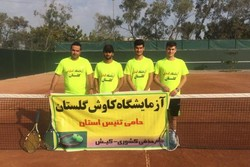 حضور دو تیم گلستانی در جام حذفی تنیس مردان کشور