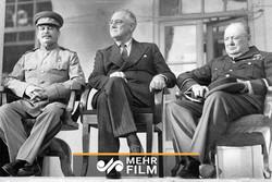 ویدیویی تاریخی بصورت رنگی از کنفرانس تهران