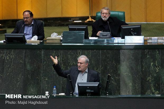 جلسه رأی اعتماد به وزیر پیشنهادی بهداشتParliament's session to approve new Iran's health minister