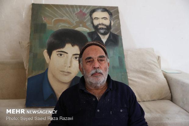 پدر شهید علی حاجی پور شهرستان نطنز کاشان