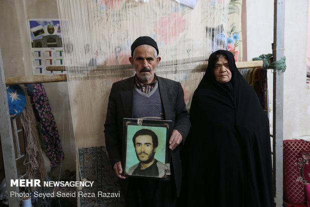 پدر و مادر شهید علی خیرخواه روستای رهق کاشان