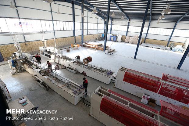 تولید و اشتغال محمد باقری جانباز 70 درصد، تولید upvc شهرک صنعتی اشتهارد